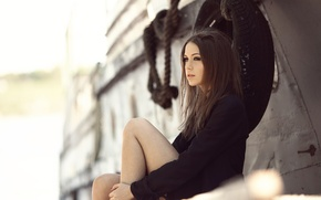 Picture look, legs, Xenia, knee, Kseniya Kokoreva