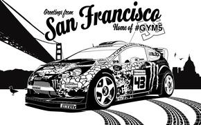 Picture ford, rally, rally, wrc, San Francisco, fiesta, Ken Block, Ken Block, gymkhana5