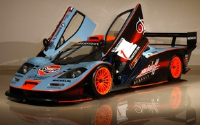 Picture reflection, background, McLaren, door, GTR, supercar, the front, racing car, hypercar, McLaren, GTR, Longtail