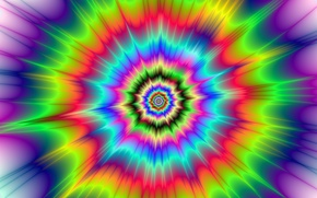 Picture bright colors, hypnotic, circular, visual effect