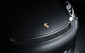 Picture shadow, 911, Porsche, the hood, bumper, GT3, label, 991