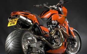 Picture tuning, motorcycle, Yamaha V-max, custom, orange, Yamaha V max, bold lines, beautiful design, High technology, …