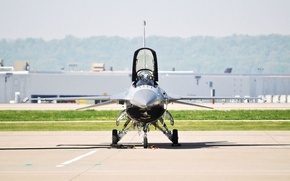 Picture Fighter, the plane, the airfield, f-16, F-16, fighting falcon