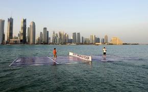 Picture water, still, doha, federer, tennis