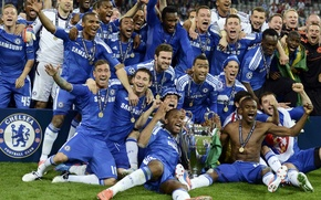 Picture emblem, players, players, Chelsea, Champions League, Chelsea, Final 2012, League Champions, Finale 2012, Pobeda