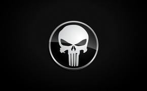 Wallpaper Punisher, background, skull