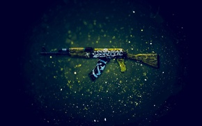 Picture AK-47, Counter-Strike: Global Offensive, CS:GO, desert rebel, Wasteland Rebel