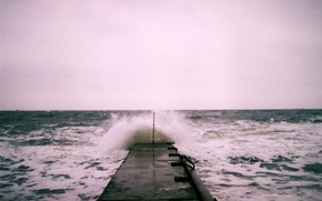 Picture waves, storm, sea, troubled sea