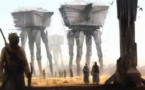 Wallpaper Star Wars, fantasy, desert, painting, film, artwork, fantasy art, Tusken