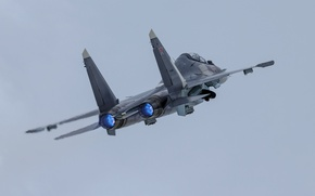Wallpaper army, the plane, Su-30SM, weapons