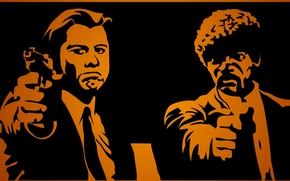 Wallpaper pulp fiction, Samuel Jackson, John Travolta, pulp fiction