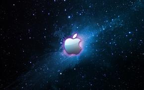 Picture stars, blue, apple, logo