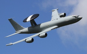 "Wallpaper flight, the plane, far, detection, radar, Boeing E-3D, ""Sentri"", Sentri"