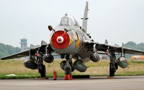 Picture fighter, bomber, the airfield, Su-22M