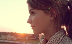 Wallpaper look, sunset, Profile