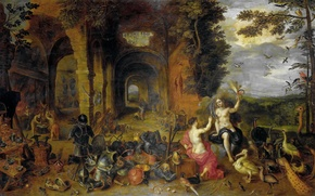 Picture picture, Jan Brueghel the younger, Allegory Of The Four Elements, Fire and Air
