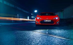 Picture Orange, Toyota, Car, Front, Sport, GT86, Wheels, Hood, Bumper