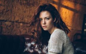 Picture look, portrait, Anya, sweater, Anna Zabolotskaya