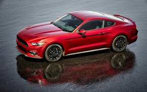 Picture reflection, Mustang, Ford, Black, Accent