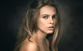 Picture portrait, the beauty, Anastasia, Nastya, classical portrait of a young girl