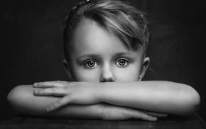 Picture look, portrait, girl, grit