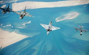 Wallpaper Mirage, F. Mk-6, Mirage, F 16, Aviation, BBC, Earth, Lightning, In The Air, 2000, Fighter, ...