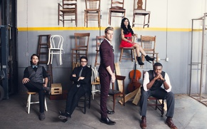 Picture Kirstie Maldonado, Mitch Grassi, Kevin Olusola, Scott Hoying, Avi Kaplan, Pentatonix