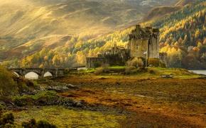 Wallpaper nature, Scotland, the Eilean Donan castle, autumn