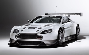 Picture white, white, aston martin, tuning, racing
