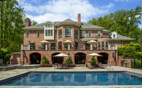 Picture house, Villa, pool, mansion