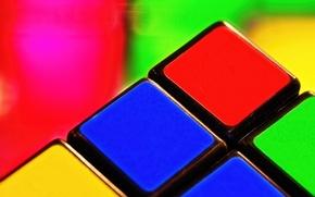 Picture macro, cube, Rubik's cube, puzzle
