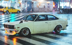 Picture rain, street, rain, street, datsun, Datsun