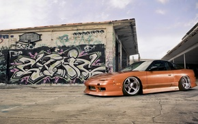 Picture graffiti, tuning, drives, Nissan, nissan 240sx