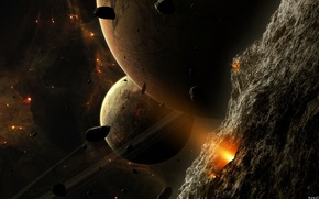 Picture space, planet, the asteroids, Space
