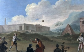 Picture people, picture, pyramid, genre, Charles Joseph Flipart, Ball games