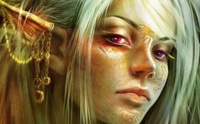 Wallpaper blonde, girl, elf