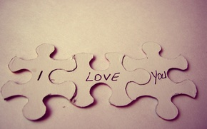 Picture BACKGROUND, TEXT, MACRO, LOVE, PUZZLES, I LOVE YOU