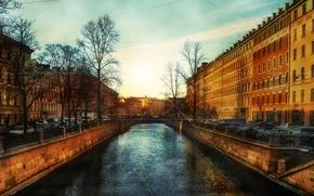 Picture sunset, the city, photo, home, beauty, Peter, beautiful, Saint, Neva, Petersburg, Piter