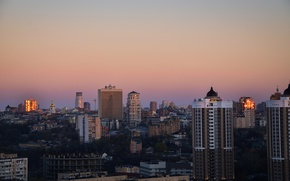 Picture the sky, home, the evening, roof, Kiev