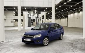 Picture car, blue, Lada, premiere, hatchback, Lada, Granta, Grant, Vaz, AVTOVAZ, best seller, 2191, liftback
