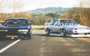 Picture Nissan, jdm, silvia, s14, together, 180sx, zenki