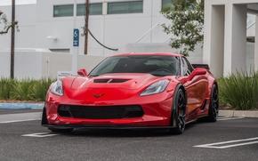 Picture Z06, Corvette, Chevrolet, red