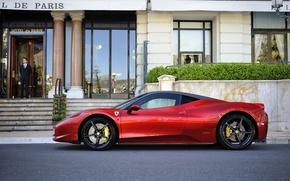 Picture red, Ferrari, red, the hotel, Ferrari, 458, hotel, Italia