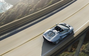 Picture Wallpaper, Roadster, Lamborghini, car, the view from the top, Lamborghini, Centennial