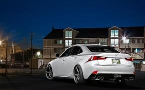 Picture Lexus, wheels, black, metallic, Lexus, rear, vossen, IS250