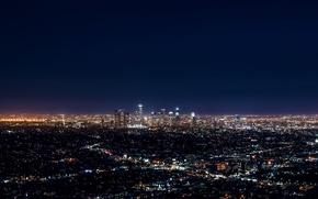 Picture City, Blue, Landscape, Urban, Los Angeles, Downtown, Skyline, Photo, Architecture, Lifestyle