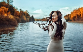 Picture autumn, the wind, hair, portrait, Russia, George Chernyadev