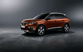 Wallpaper Peugeot, 3008, Peugeot, crossover, background