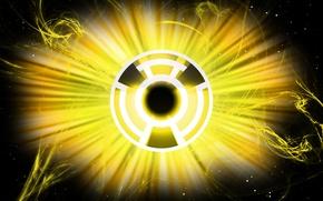 Picture logo, comics, lantern, DC Comics, Yellow Lantern