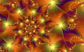 Picture line, pattern, color, spiral, fractal